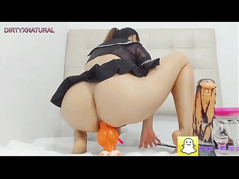 Petite schoolgirl fucks her asshole with long dildo and gape | LIVE HERE: hot4cams.com/dirtyxnatural