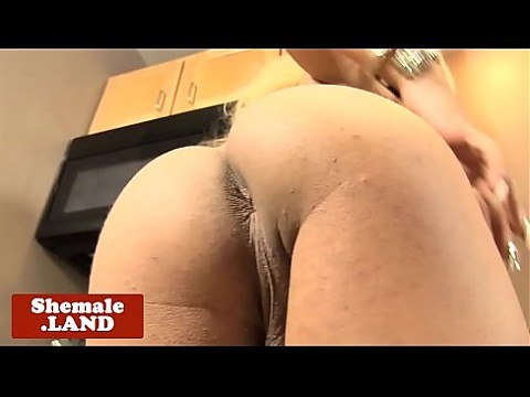 Young black tgirl strips and spreads ass solo