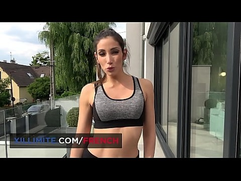 Nice anal fuck with French brunette Mya Lorenn after sport