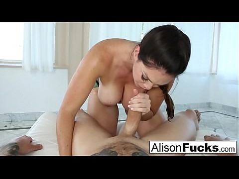 Alison Tyler gives a sexy blowjob and boob fucking